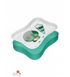 Мыльница-подставка Мультидом, цвет зеленый 42070995