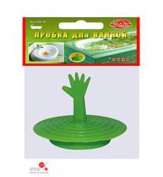 Пробка для ванны Мультидом, цвет салатовый 42071005