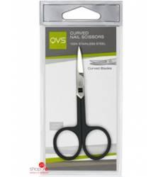 Ножницы маникюрные Tempo с изогнутыми лезвиями QVS 42171796