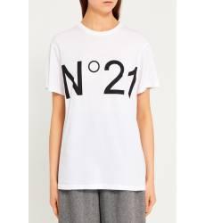 Белая футболка с контрастным логотипом Белая футболка с контрастным логотипом
