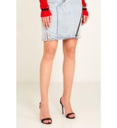 юбка 3.1 Phillip Lim Джинсовая юбка с асимметричной молнией