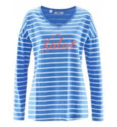 футболка bonprix Футболка с контрастной надписью и длинным рукавом
