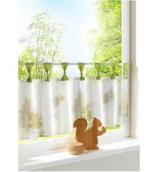 Короткая штора Дуня, петли (зеленый) Короткая штора Дуня, петли