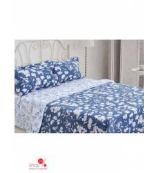 Комплект постельного белья, 2-спальный Этель, цвет белый, синий 42753647
