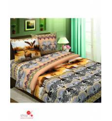 Комплект постельного белья, Евро Традиция Текстиля, цвет мультиколор 42817860