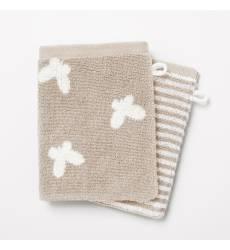 Комплект из 2 банных рукавичек из махровой ткани, 500 г/м² - CANELO (lot de 2) 42875145