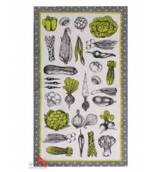 Полотенце Доляна Овощи, 35х60 см Доляна, цвет зеленый, белый 42905485