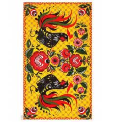 Полотенце Доляна Жостово, 35х60 см Доляна, цвет желтый 42905490