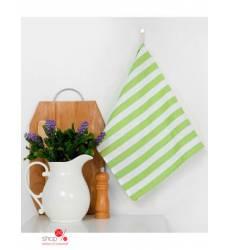 Полотенце Этель Зеленая полоска, 35х65 ± 2 см Этель, цвет зеленый 42905513