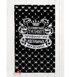 Полотенце кухонное Доляна Король кухни, 35х60 см Доляна, цвет черный 42905515
