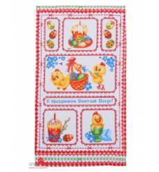 Полотенце вафельное С праздником Пасхи, 34*64 см Доляна, цвет мультиколор 42905524