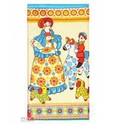 Полотенце вафельное Дымковская игрушка, 34*64 см Доляна, цвет желтый 42905529