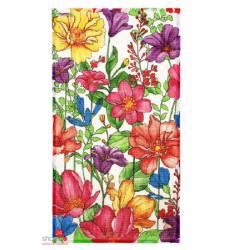 Полотенце вафельное В летнем саду, 33*58 см +/-2 см Доляна, цвет мультиколор 42905530