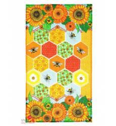 Полотенце вафельное Доляна Пчелинные соты, 34*64 см Доляна, цвет мультиколор 42905535