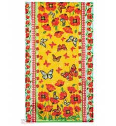 Полотенце вафельное Доляна Маковое поле, 33*60 см +/-2 см Доляна, цвет мультиколор 42905537