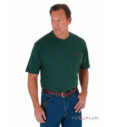 футболка Wrangler Однотонная футболка Forest Green Pocket T-Shirt