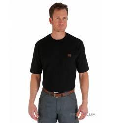 футболка Wrangler Однотонная футболка Black Pocket T-Shirt