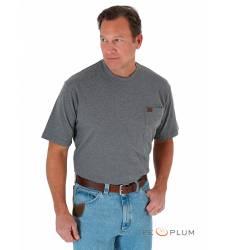 футболка Wrangler Однотонная футболка Charcoal Grey Pocket T-Shirt