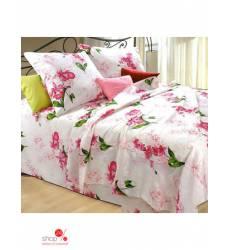 Комплект постельного белья, 1,5-спальный Этель, цвет белый, розовый, зеленый 43045149