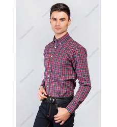 рубашка Time of Style Рубашка мужская в клетку
