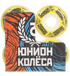 Колеса для скейтборда для скейтборда Юнион Logo Ф2 White/Yellow/Black 101A 49 mm Logo Ф2