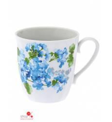 Кружка, 350 мл Дулевский фарфор, цвет белый, голубой, зеленый 43100879