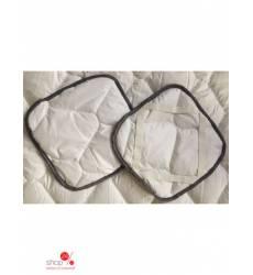 Комплект подушек на табурет, 2 шт Begal, цвет белый 43100947