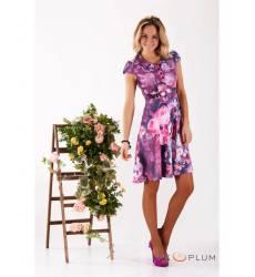 платье Zean Платье Лиловое В Цветочек