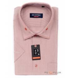 рубашка Brostem Рубашка в полоску с коротким рукавом Сорочка розов