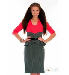 миди-платье Modeleani Офисное платье Ниагара полоска коралл