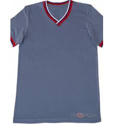 футболка Tillo Однотонная футболка Серо-синий триколор