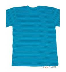 футболка Tillo Футболка в полоску Бирюзовая с черным