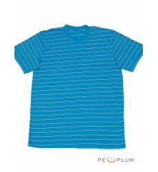 футболка Tillo Футболка в полоску Бирюзовая с белым