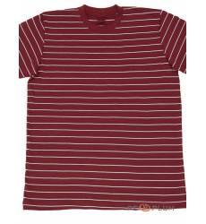 футболка Tillo Футболка в полоску Бордовая с белым