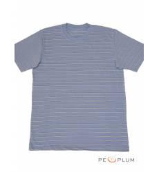 футболка Tillo Футболка в полоску Серо-голубая с серым