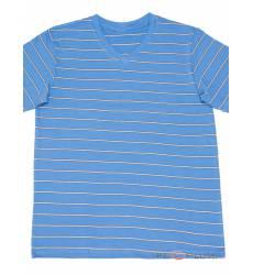 футболка Tillo Футболка в полоску Голубая с серым V-ворот