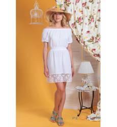 платье OleGra Повседневное платье Платье Белый