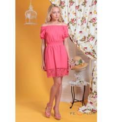 платье OleGra Повседневное платье Платье Коралл