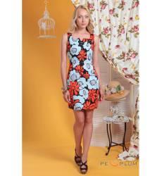 платье OleGra Повседневное платье Черно-Красное
